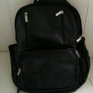 Handbags - Black genuine leather backpack